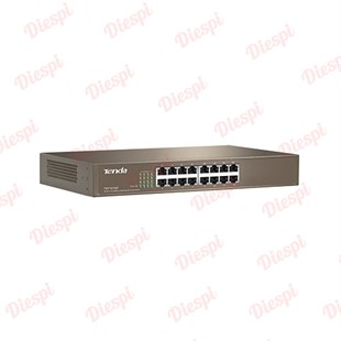 Tenda TEG1016D 16Port GigaBit, Rack-M, Metal Kasa, Switch